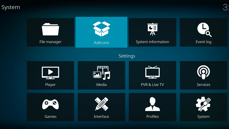 Step 2 - How To Fix Kodi No Sound Error - Check and update the add-on