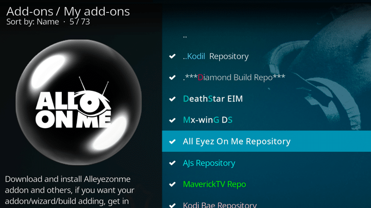 Step 3 - How To Fix Kodi No Sound Error - Check and update the add-on
