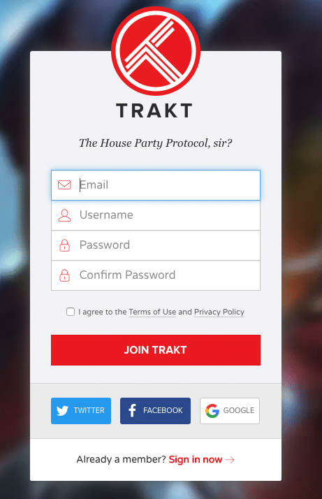 Step 3 - How to Sign Up for Trakt