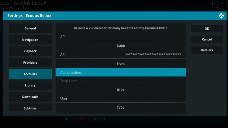 Step 4 - How To Set Up Trakt on Kodi