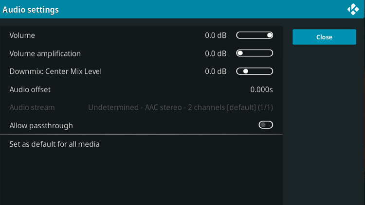 no sound on kodi on mac