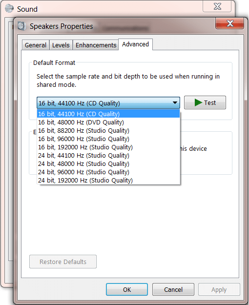 Step 6 - How To Fix Kodi No Sound Error - other audio formats