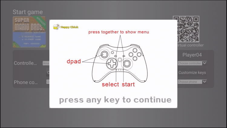 click any button to continue