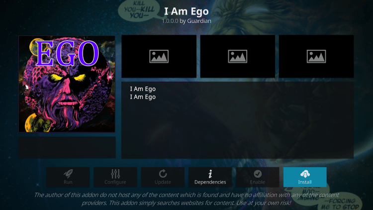 How To Install I Am Ego Kodi Addon