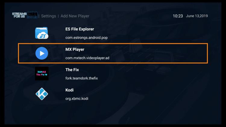 Click MX Player