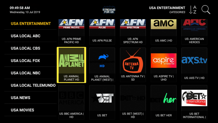Streams For Us IPTV - 8,500 Live HD Channels $7