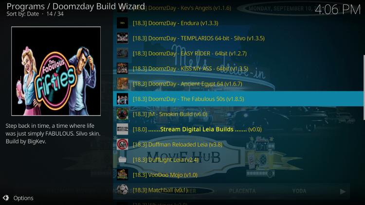 Choose Doomzday Fabulous 50s Build