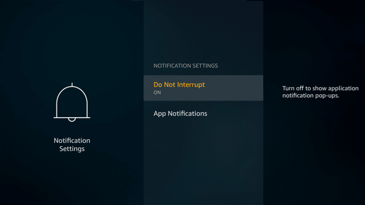 Step 4 - Firestick Fire TV Block app notifications