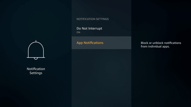 Step 5 - Firestick Fire TV Block app notifications