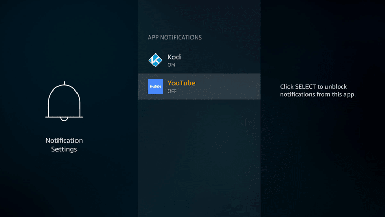Step 6 - Firestick Fire TV Block app notifications