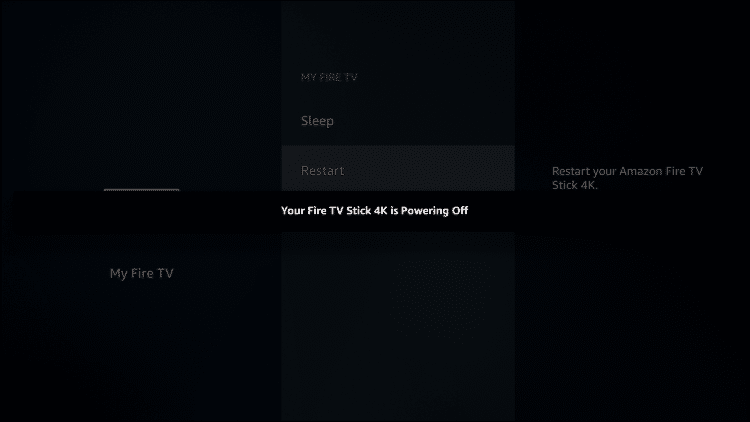 fire tv powering off