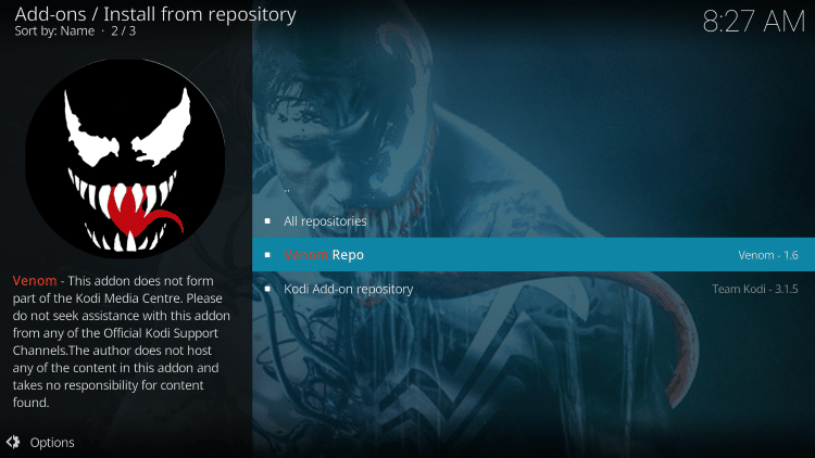 choose Venom Repo