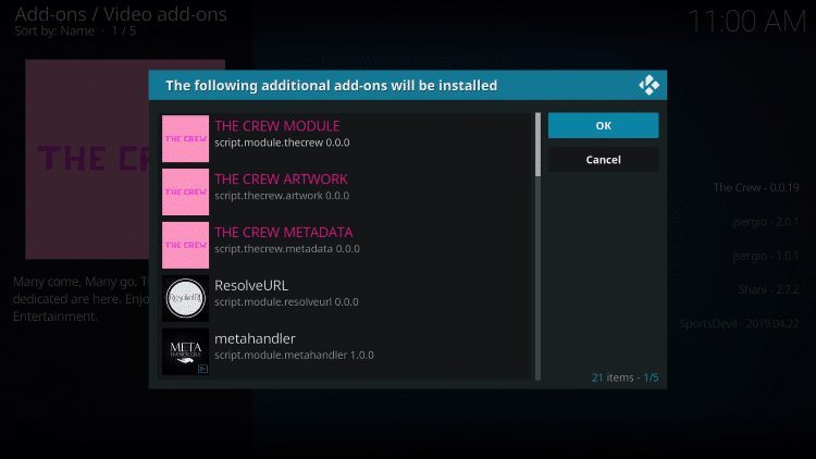 How to Install The Crew Kodi Addon for Free Movies, TV Shows