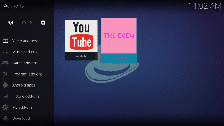 click the crew addon
