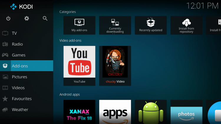 wait for additional add-ons to install then go back to home screen