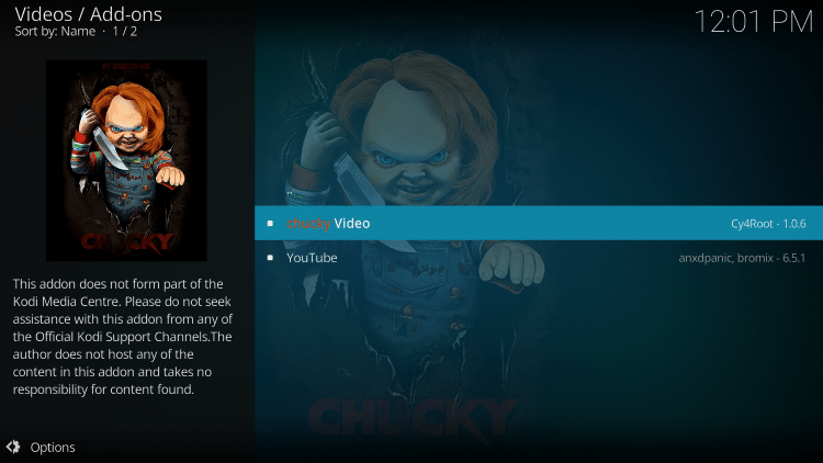 choose chucky video