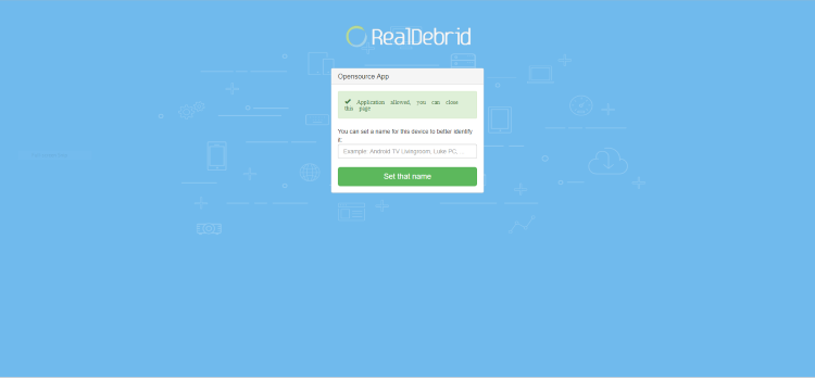 your real debrid application is now approved