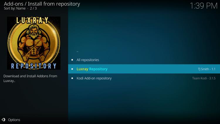 click luxray repository