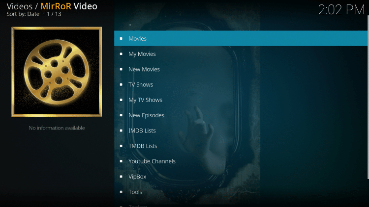 installation of the mirror kodi add-on is now complete