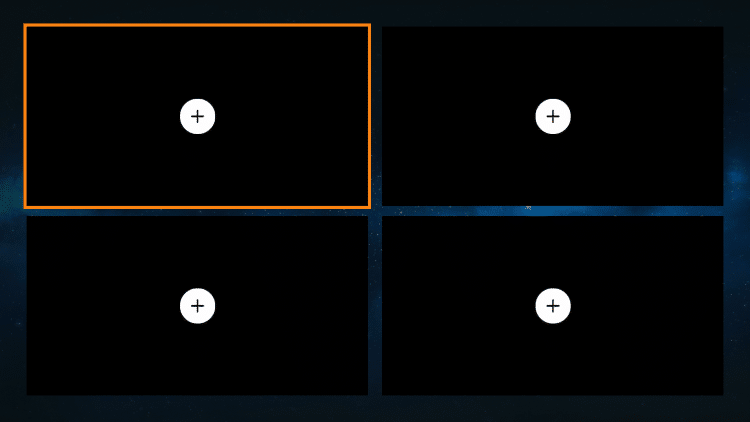 Once on the multi-view screen click one of the screens for the menu to appear.