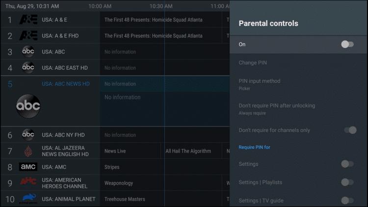 tivimate parental controls