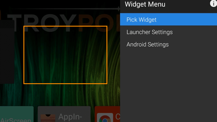 Step 17 - How to Add Widgets on the ATV Launcher