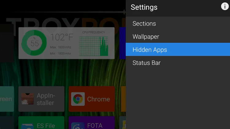 Step 4a - How to Add More Widgets on ATV Launcher