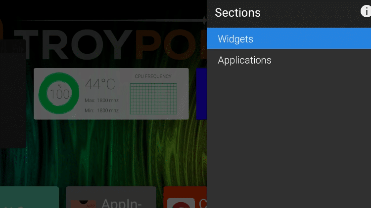 Step 8c - How to Adjust Widget Sizes on ATV Launcher