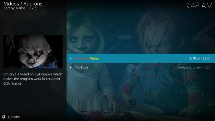 Click Chucky2 Video