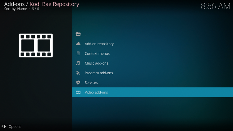 The Kodi Bae Repository is now installed.
