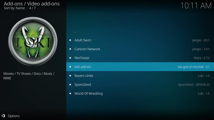 Select loki add-on