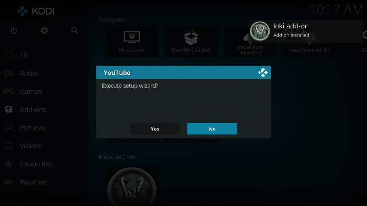 Click No when this message appears