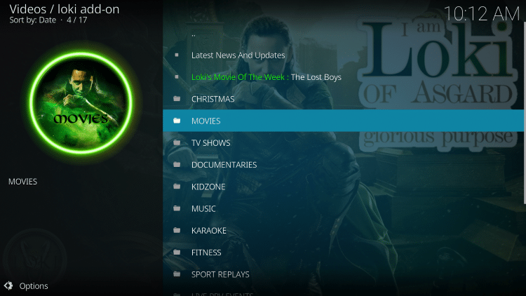 That's it! The Loki Kodi add-on is now successfully installed.