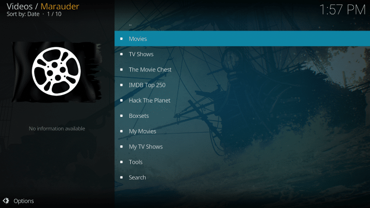 That's it! The Marauder Kodi Add-on is now successfully installed.