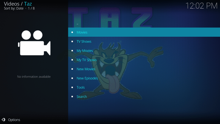 That's it! The Taz Kodi Add-on is now successfully installed.