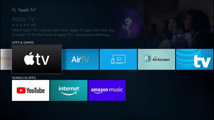 choose apple tv