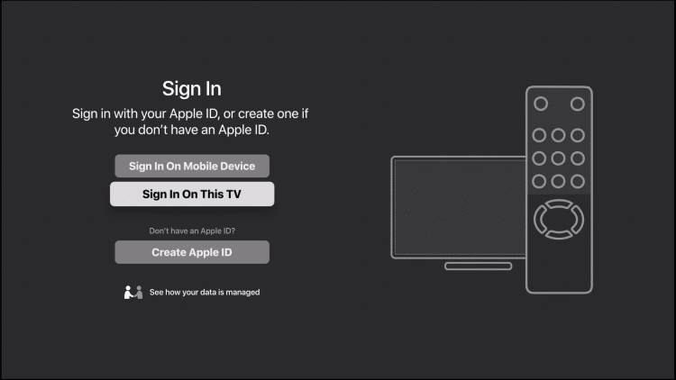 choose sign in on this tv