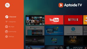 aptoide tv interface
