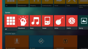 aptoide tv apk interface