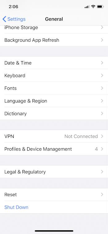 profiles & device management