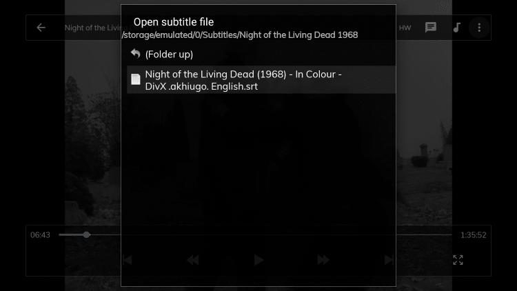 You should then see your downloaded subtitles file appear. Click the file.