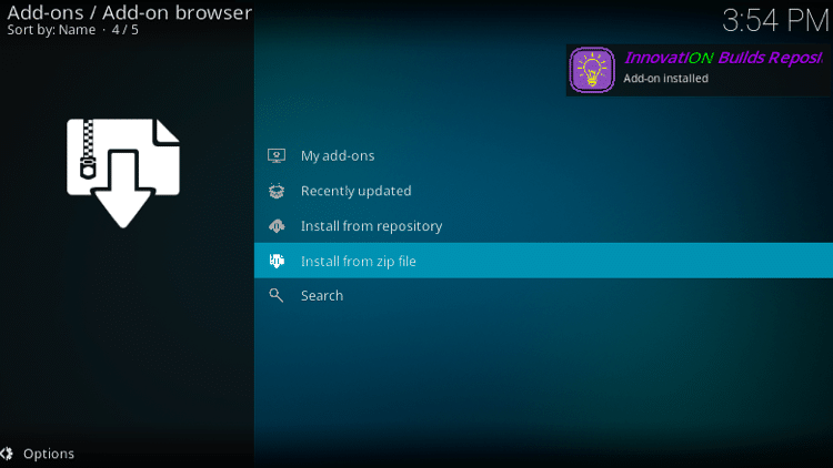 Step 19 - How to Install Innovation Colors FamilyBuild on Firestick, Fire TV & Android TV Box