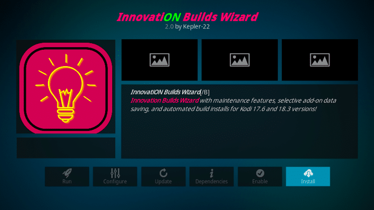 Step 23 - How to Install Innovation Colors FamilyBuild on Firestick, Fire TV & Android TV Box