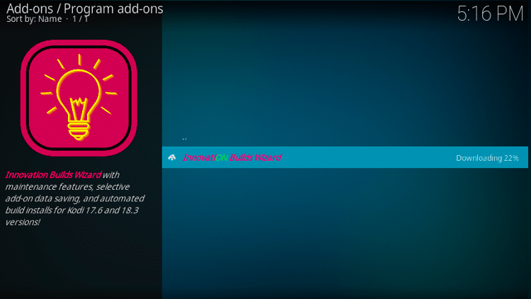 Step 24 - How to Install Innovation Colors FamilyBuild on Firestick, Fire TV & Android TV Box