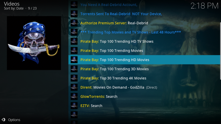 we have included A Pirates Life For Me in the TROYPOINT's Best Kodi Add-ons List.