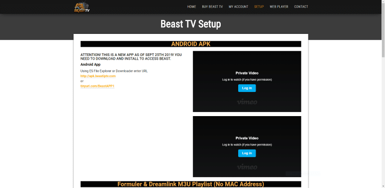 For instructions on how to install the Beast TV application on your device, refer to the Beast TV Setup Guide on their website.
