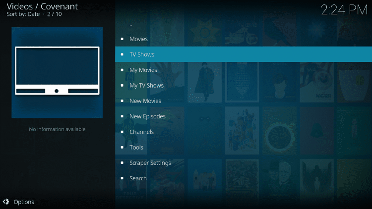 the covenant kodi addon is one of troypoint's best kodi addons