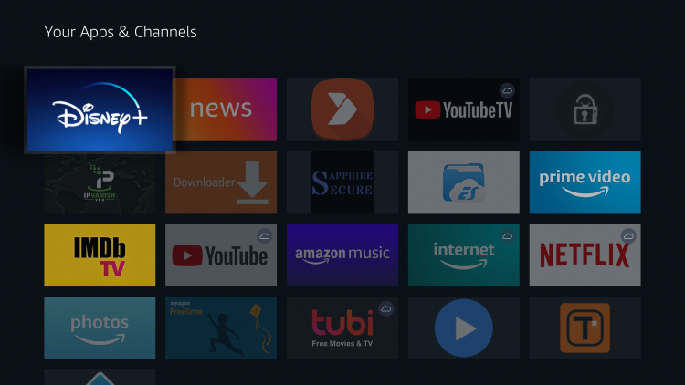 Move Disney Plus to the front of Your Apps & Channels if you desire.