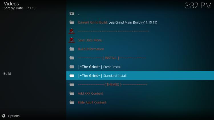 click standard install
