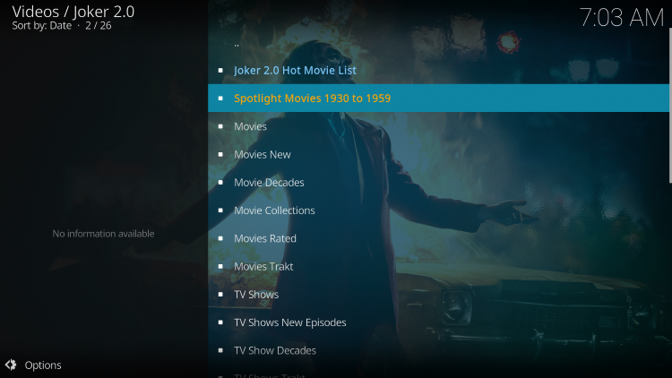 we have included Joker 2.0 in the TROYPOINT's Best Kodi Add-ons List.